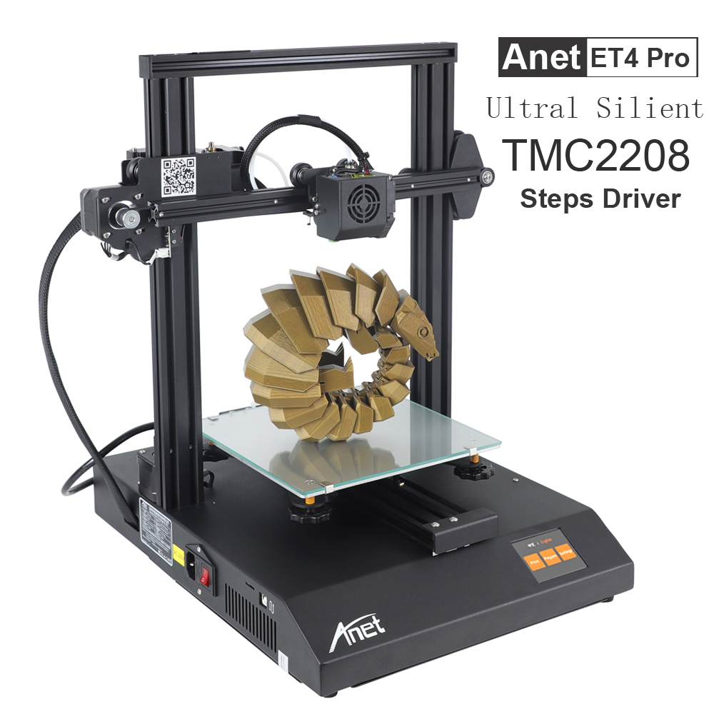 Anet ET4 Pro Ultra Silent All Metal Printer Auto-Leveling DIY 3D Printer With TMC2208 Step Driver Resume Printing