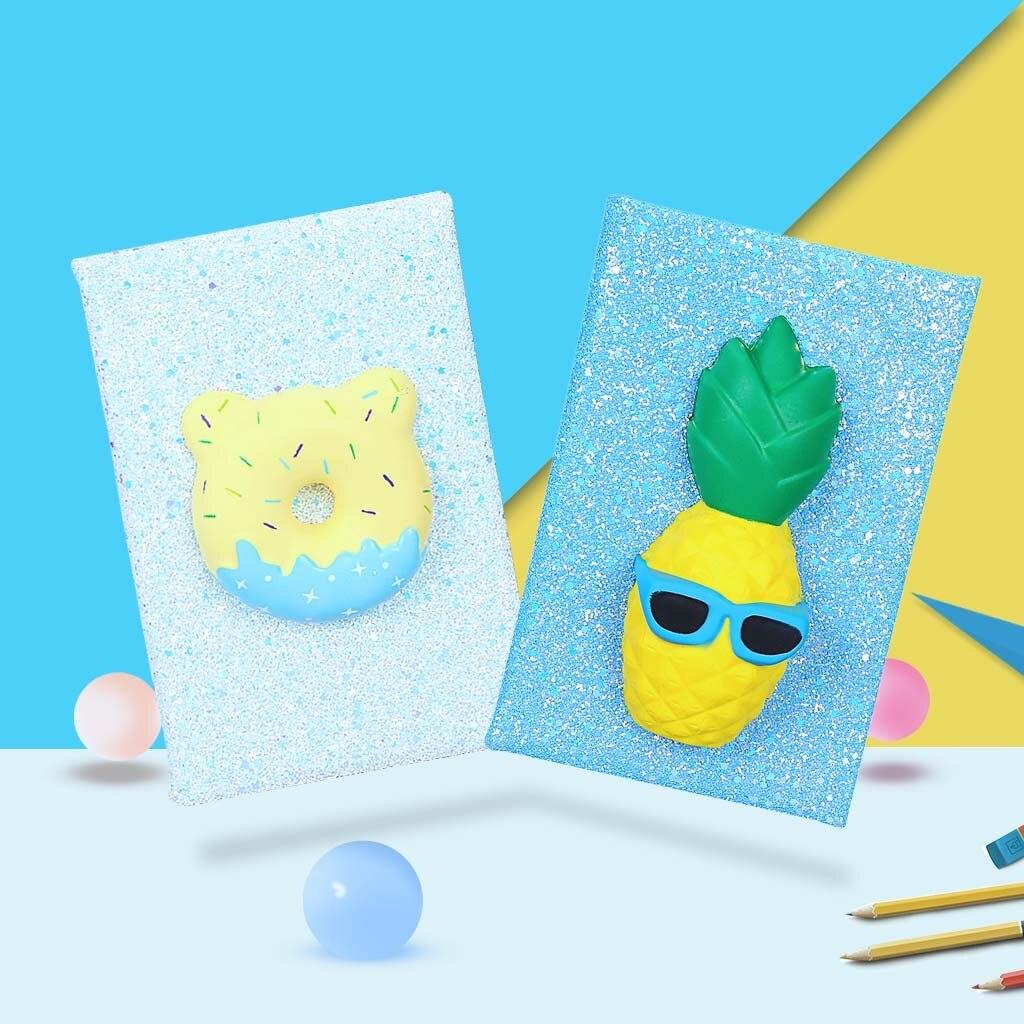 Toys For Children Slow Reboun D Notebook, 3D Cartoon, A5 Sequin Diary, Portable Diary Notepad Home Decor