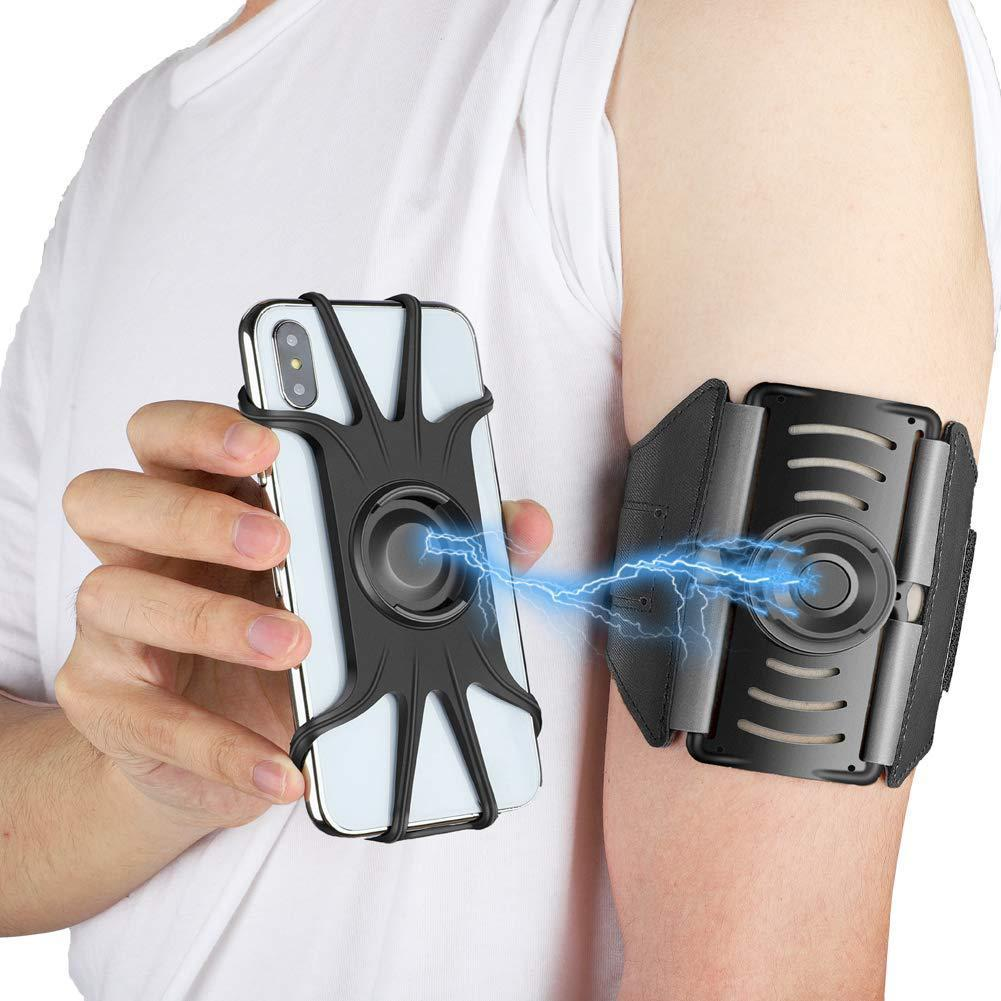 Mobile Phone Armband Holder For Mountaineering Riding Walking Running Sports Breathable Wristband 360 Rotating Armband
