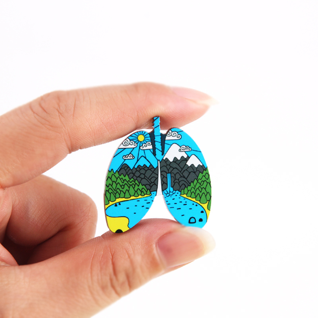 Outdoors Mountain Starry Night Acrylic Enamel Pin Custom Wild Camping Hiking Brooches Bag Clothes Lapel Pin Adventure Badge Gift 3
