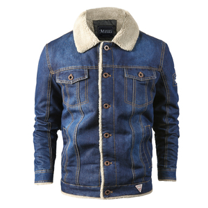 Image 3 - Men Jacket and Coat Trendy Warm Fleece Thick Denim Jacket 2020 Winter Fashion Mens Jean Jacket Outwear Male Cowboy Plus Size 4XL
