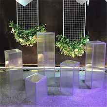 Plastic Wedding Decorative Creative Props Geometry Road Lead Cake Stand  Pillars Flower Pot Birthday party