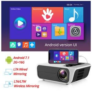 Image 3 - Touyinger L7 LED 1080P 저렴한 갓성비 프로젝터 가정용 강의용 빔프로젝터 , 풀 HD 미니 브랜드 USB 비머 4500 루멘 안드로이드 7.1 와이파이 블루투스 홈 시네마 HDMI