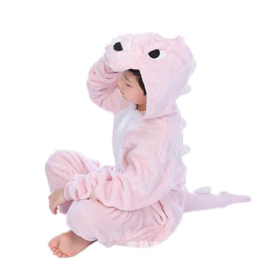 סרבל פיג 'מה ילדי בני הלבשת פלנל תינוק בעלי החיים סרבל תינוקות ילדים תלבושות Unicorn Kigurumi צבי מונו פיג' מה פיקאצ 'ו פרה