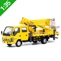 1:35 scale Crane Folding Arm Cranes Ascending Machines Engineering Vehicles Metal Toys Diecast Alloy Cars kid Collection Artwork