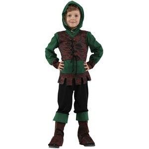 Kids Kind Middeleeuwse Archer Hunter Robin Hood Kostuum Voor Jongens Halloween Purim Carnaval Party Mardi Gras Outfit Disfraces(China)