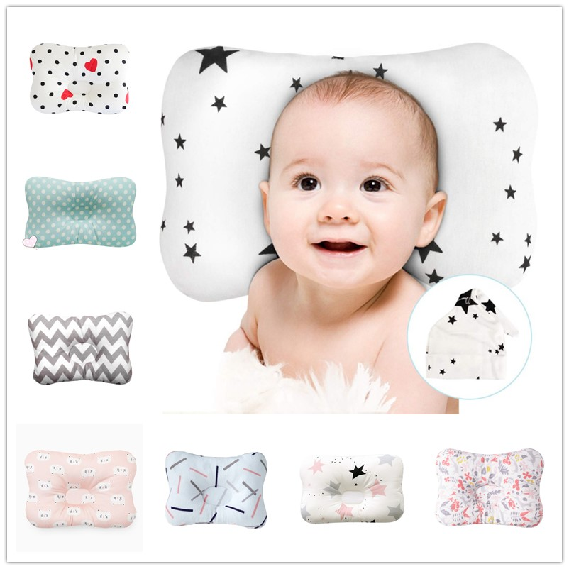 Baby Anti-deflection Head Nursing Pillow For Newborn Breathable 3D Head Protective Mat For Baby Sleeping
