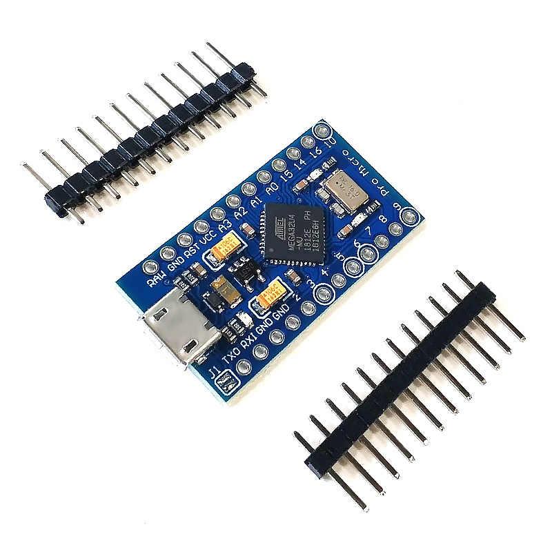 Pro Micro ATmega32U4 5 V/16 MHz Module met 2 rij pin header Voor Arduino