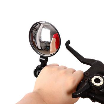 Lusterko wsteczne do roweru lusterko na kierownicę obrotowa jazda na rowerze widok z tyłu MTB bicicieta Bike wypukła regulowana elastyczna elastyczna przedłużona tanie i dobre opinie