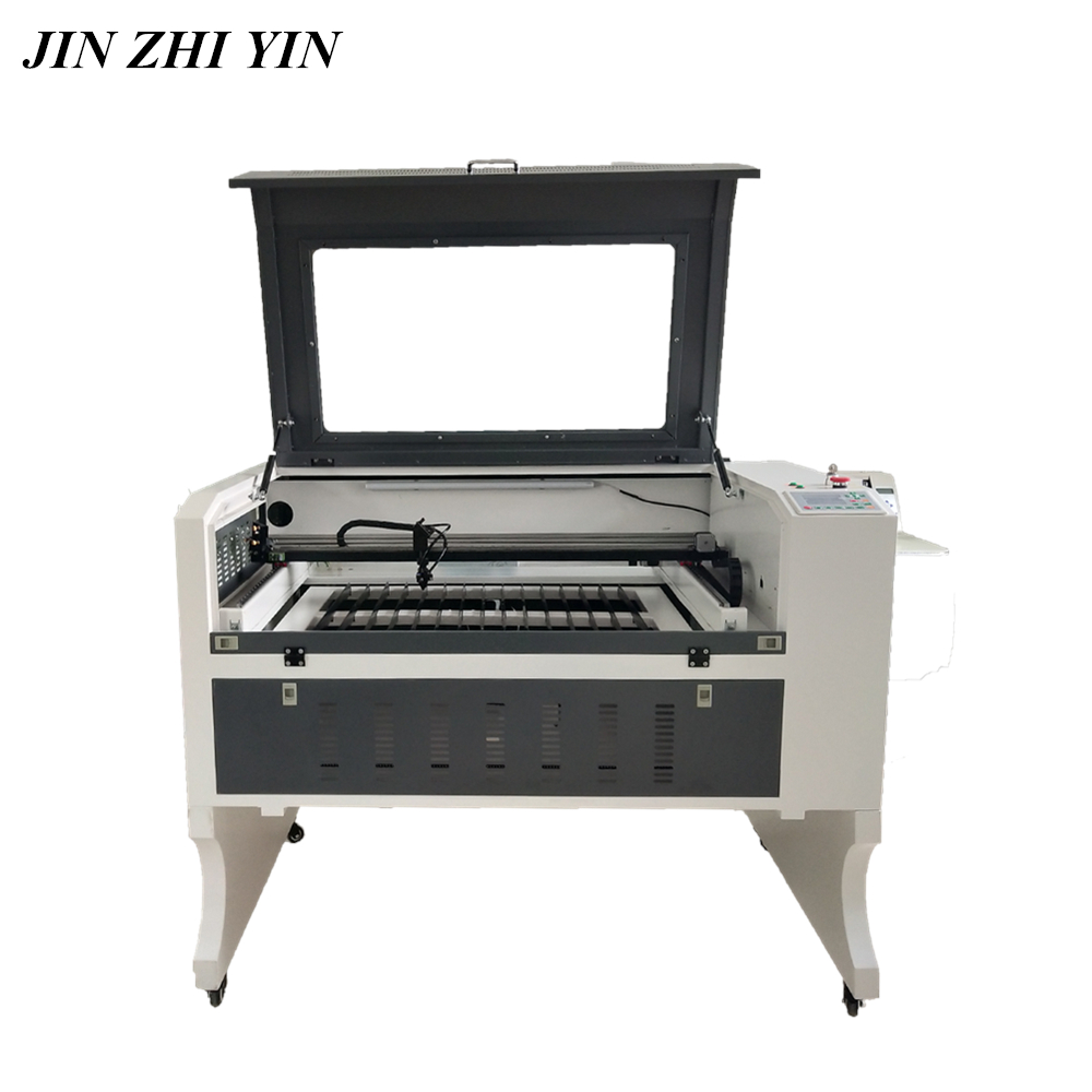 100w Laser Engraver 900x600mm Ruida System Up And Down Table Laser Engraving 6090 Go Through Long Material Co2 Laser Cutting