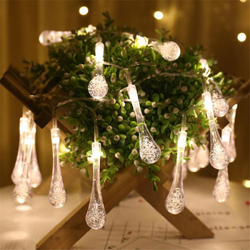 1.5/3/4.5/6/10m Crystal Bubble Drop LED String Light Christmas Wedding Party Garland Decor image