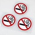 Автомобильный стильный клеевой стикер Предупреждение ющий, не курит, автомобильный стикер, легко наклеивается для bmw benz ford Volkswagen peugeot, opel ...