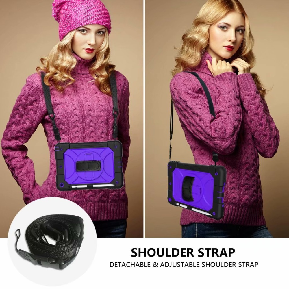 Hand Holder Strap iPad 360 iPad Generation 7th For Case Stand Cover Rotating Pencil For