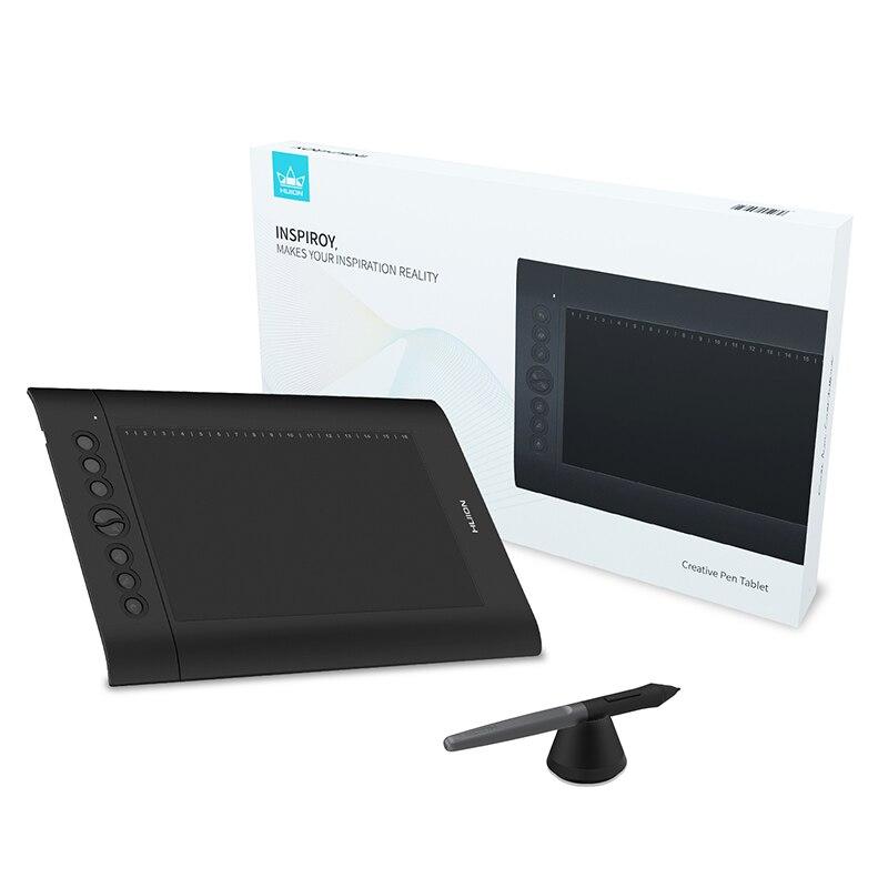 HUION H610 Pro V2 tablette graphique stylo de dessin numérique tablette stylo pression 8192 niveaux Express touches fonction d'inclinaison sans batterie