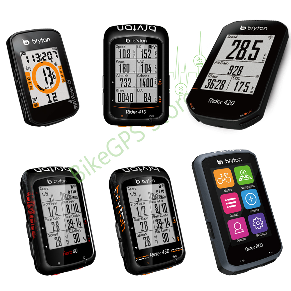 Rider 15 Rider 410 420 450 Aero 60 Rider 860 GPS Bike  ComputerGlobal Navigation Satellite System Waterproof IPX7 ANT+  Sensors