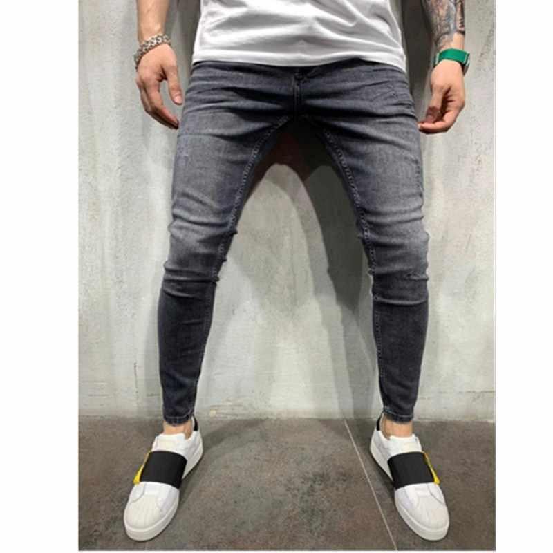 3 stili Uomini Elastico Skinny Biker Slim Fit Denim Degli Uomini di Multi-tasca con cerniera Dei Pantaloni della matita degli uomini casual dei jeans di moda casual Pantaloni