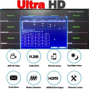 Image 2 - 16Channel DVR AHD/CVI/TVI/IP 2592*1944 5MP CCTV Video Audio Face Recorder Hybrid DVR NVR HVR 6 In 1 Security System App view PTZ