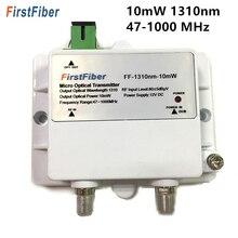 Micro transmissor ótico 47 1000 mhz 1310nm do transmissor ftth 12 v catv de 10 mw micro fibra ótica com sc/apc