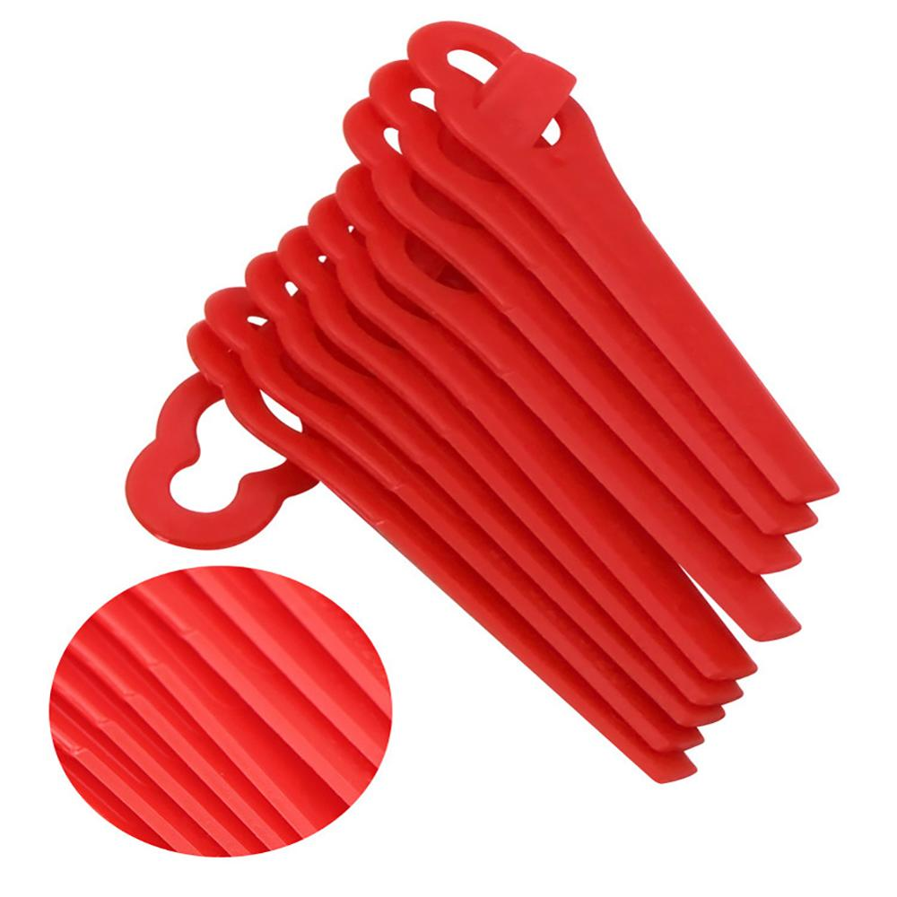 10Pcs set Lawn Mower plastic blade Grass Strimmer Trimmer Blade Blades Tool in Saw Blades from Tools