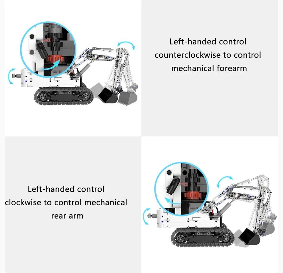 Xiaomi MITU Engineering Excavator Building Blocks Toy Kids Gift Crawler Simulation console Mechanical transmission 900+ parts (6)