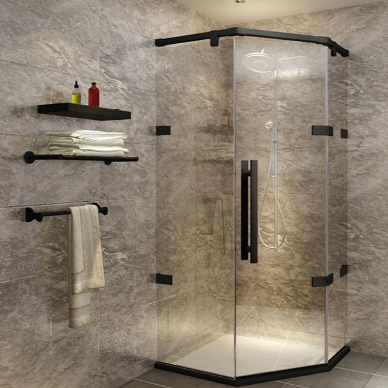 1 Set Silver/Gold/Black Shower Door Hardware Set For Pulling Glass Door Electroplated Shower Door Roller Pulley Shower Cabin