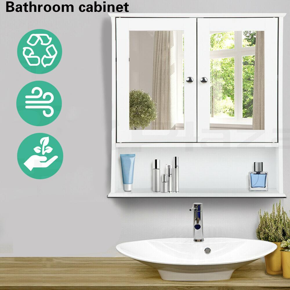 Bathroom cabinet56*13*58cmModern Style Wall Mounted Bathroom Cabinet with Mirror Cosmetic Storage Home Furniture Toilet Cupboard
