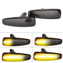2pcs זורם דינמי LED צד מרקר אור איתות אור נצנץ צהוב 8351A001 עבור Mistubish לנסר EVO X עשן LED אור