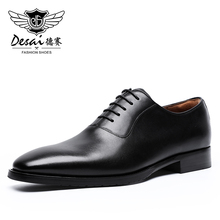 Shoes Formal-Dress Oxfords Business Men's DESAI with Comfortable Classic Retro British-Style