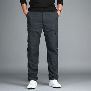 Image 5 - In Pile da Uomo Cargo Pantaloni di Inverno Caldo di Spessore Pantaloni di Lunghezza Completa Multi Tasca Casual Larghi Militare Tattico Pantaloni Più I Pantaloni di Formato 3XL