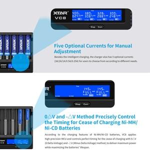 Image 3 - Xtar VC8 Batterij Oplader QC3.0 Snel Opladen Type C Input Max 3A 1.2V Ni Mh Aaa Aa 3.6V li Ion Batterij 10400 26650 18650 Lader