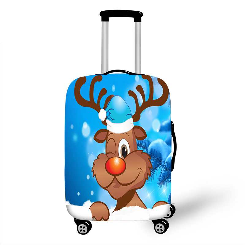 Luggage Protective Cover Case For Elastic 18-32 Inch Suitcase Protective Cover Cases Covers Travel Accessories Merry Christmas 1