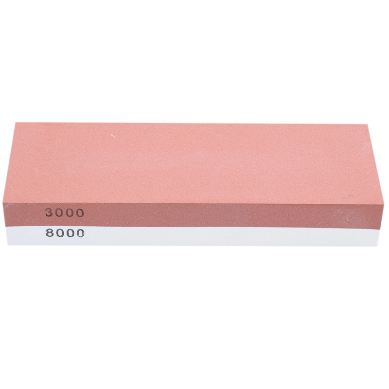 Sharpening Stone <font><b>3000</b></font> & <font><b>8000</b></font> <font><b>Grit</b></font> - Double Sided Whetstone Set For Knives With Non-Slip Bamboo Base and Free Angle Guide image
