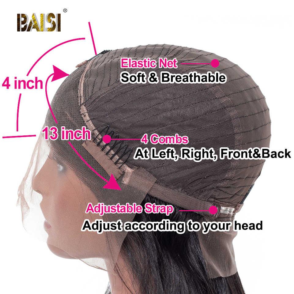 Cabelo humano ondulado do virgin brasileiro das perucas do cabelo humano da parte dianteira do laço do mel de baisi com perucas pre-arrancadas da linha fina para a mulher