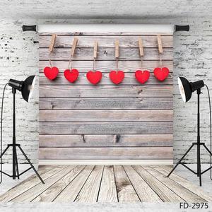Image 2 - ולנטיין של יום צילום רקע עץ קיר רצפת לב ויניל תפאורות צילום סטודיו לילדים תינוק לחיות מחמד Photoshooting