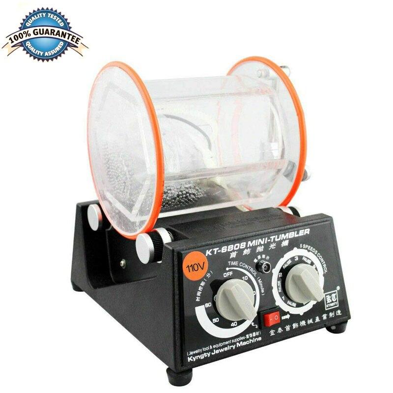 Jewelry Polisher Tumbler 3Kg Capacity Mini Rotary Tumbler Machine With Timer Jewelry Polisher Finisher For Jewelry Stone