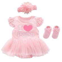 Newborn Baby Girl Dresses & Clothes 0 3 6 9 Months 1 Year Old Baby Girl Party Dress Summer Set Pink Princess Roupa Bebe