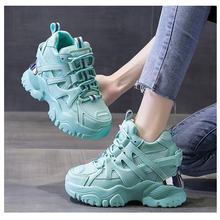 Женские массивные кроссовки на платформе модная сетчатая обувь