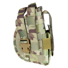 1PC Durable Holster Molle Sleeve Waist Quick Sleeve Bag for Outdoor CS Game (Green)
