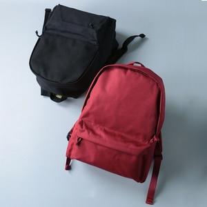 Image 4 - 2020 韓国語バージョンのバックパック女性のキャンバスのトラベルバッグ女性ファッション高容量ソリッドカラーのバックパック学生ジッパースクールバッグ