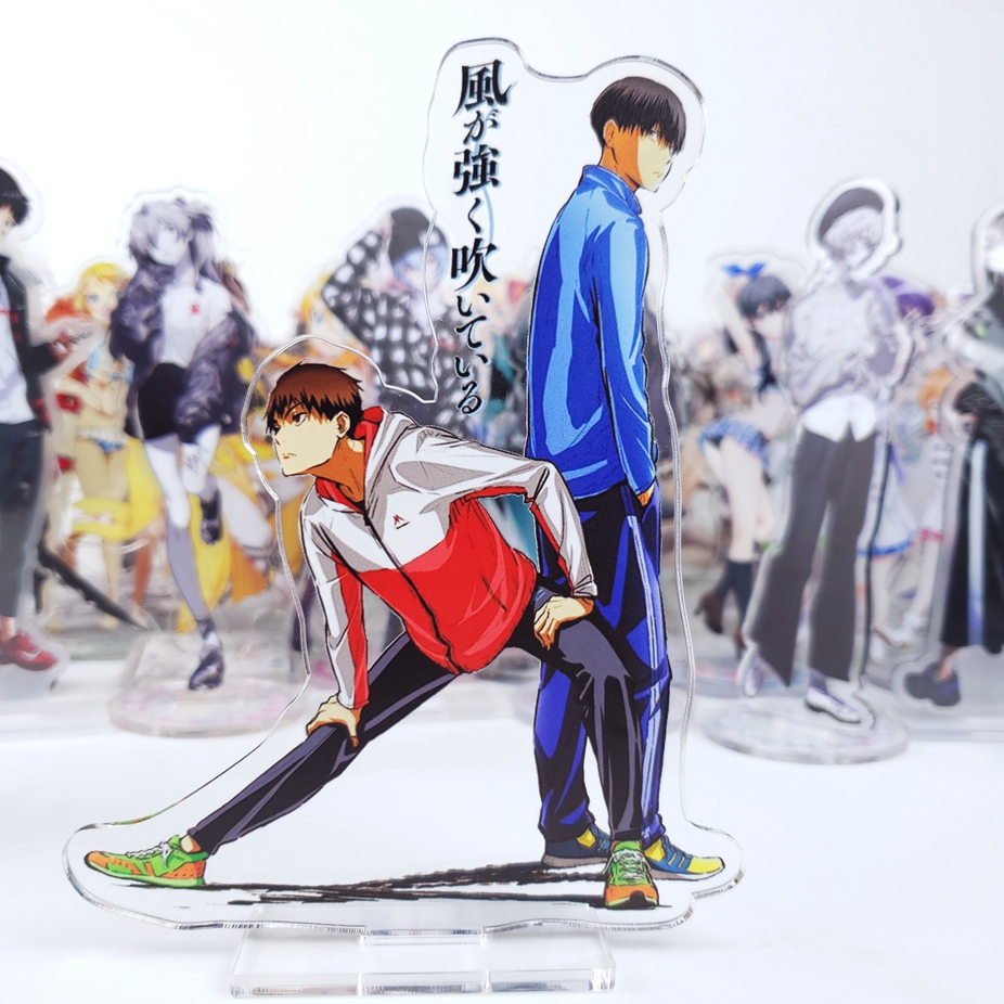 Japan Anime Kaze Ga Tsuyoku Tibetan Original Walks Cosplay Acrylic Stand Model Plate Desk Decor Xmas Cute Gifts