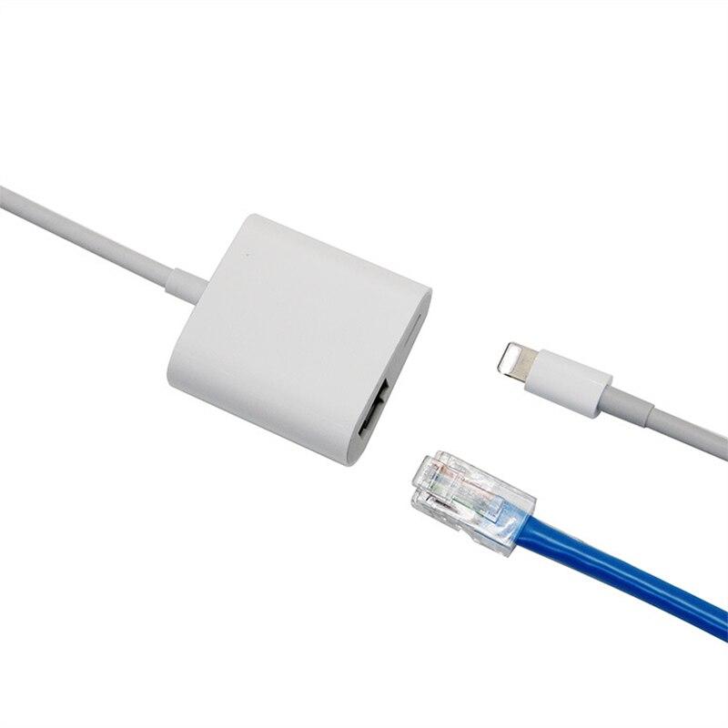 Высокоскоростной кабель преобразования устройств iOS USB3.0 RJ45 Ethernet конвертер Используется для всех iPhone/iPad серии, с быстрой зарядкой PD