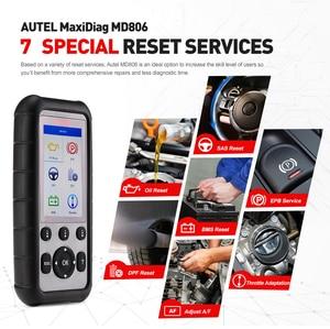Image 2 - Autel MaxiDiag MD806 EOBD Car 4 System Diagnostic Tool 7 Reset Function DPF OBD OBD2 Scanner Code Reader PK MD802 MD808 CRP129