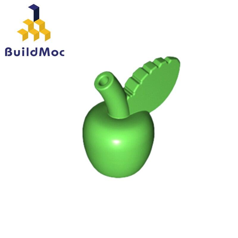 BuildMOC Compatible Assembles Particles 33051 Plant Green-apple Building Blocks Parts DIY Educational Gift Toys