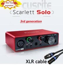 Focusrite scarlett solo 3rd gen interface de áudio amplificador de auscultadores usb placa de som 24-bit/192khz ad-conversores para pré-amplificador