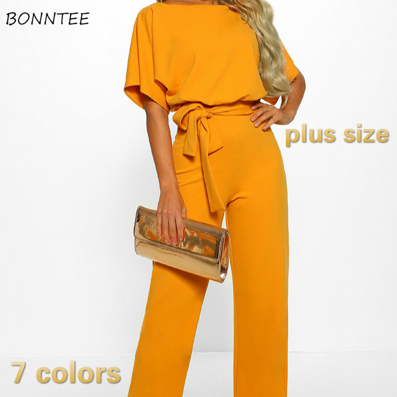 Jumpsuits Women European Style Sexy Plus Size Elegant Lace Up Trendy Vintage Novelty All-match Leisure Womens Daily High Quality