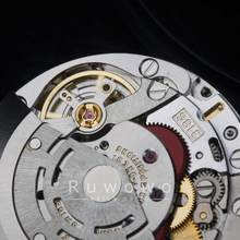 china made 3186 movement full new with GMT time function 4 hands blue balance spring 28.4mm