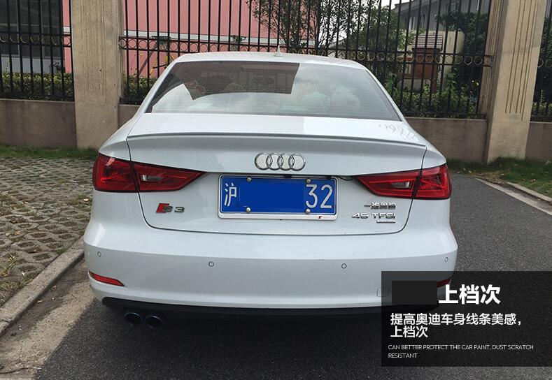 High quality ABS Paint Car Rear Trunk Lip Spoiler Wing Fits For <font><b>Audi</b></font> <font><b>A3</b></font> S3 <font><b>8V</b></font> <font><b>Sedan</b></font> 2014 2015 2016 2017 image