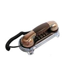 Teléfono antiguo con cable, elegante, Retro, Trimline, fijo con botones de Metal, linterna azul para llamadas entrantes