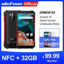 Ulefone Armor X5 Android 10 Rugged Waterproof Smartphone IP68 MT6762 Cell Phone 3GB 32GB Octa core