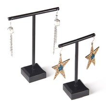 Acrylic Earrings Jewelry Display Rack Stand Organizer Holder Case Necklace Bouches Ornament Hanger T-Bar 2Pcs/Set(China)